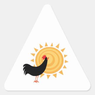 MorningRooster_Base Pegatina Triangular