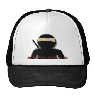 Mornings Are Murder Ninja Mesh Hats