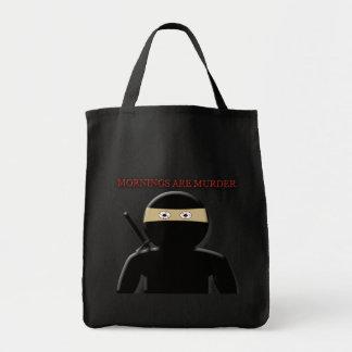Mornings Are Murder Ninja Tote Bag