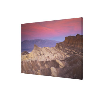 Mornings first light on  Zabriskie Point and 2 Canvas Print