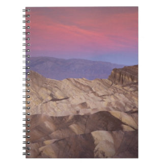 Mornings first light on  Zabriskie Point and 2 Notebook
