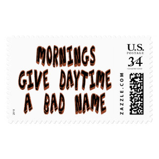 Mornings give daytime a bad name postage