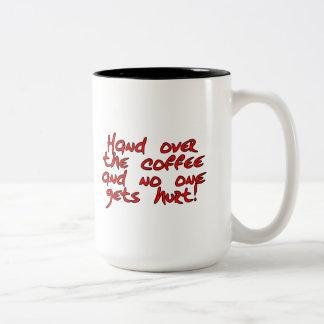 Mornings give daytime a bad name Two-Tone coffee mug