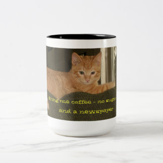 Mornings With The Cat Large Mug