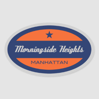 Morningside Heights Oval Sticker