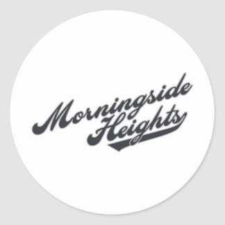 Morningside Heights Round Stickers