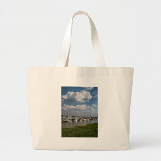 Morningstar Marina Sailboats Georgia USA Large Tote Bag