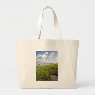 Morningstar Sailboat Marina Georgia USA Grasslands Large Tote Bag