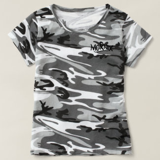 Mornix Camo shirt women white/black