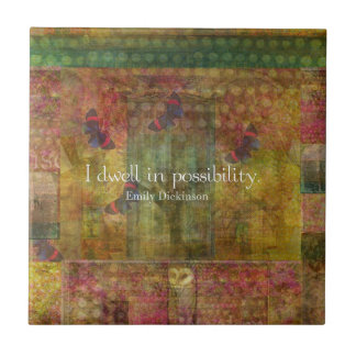 Moro en posibilidad. Cita de Emily Dickinson Azulejo Cuadrado Pequeño