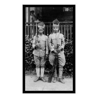 Moro Soldiers Philippines 1909 Poster