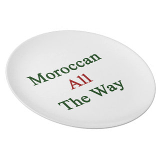 Moroccan All The Way Party Plate