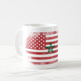 Moroccan American Flag   Morocco and USA Design Coffee Mug