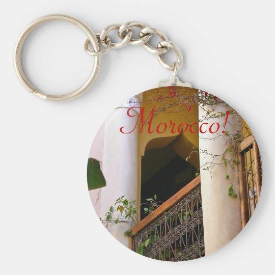 moroccan architecture keychain