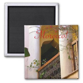 moroccan architecture 2 inch square magnet