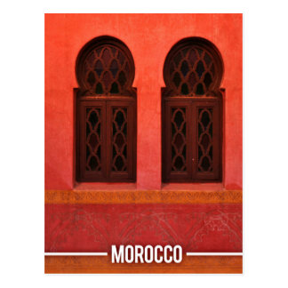Moroccan Architecture, Marrakesh City Morocco Postcard