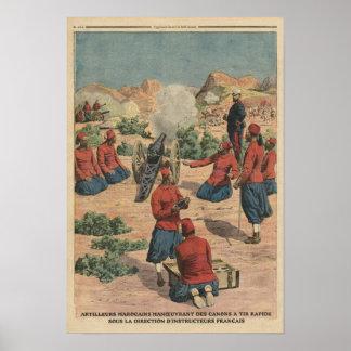 Moroccan artillerymen poster