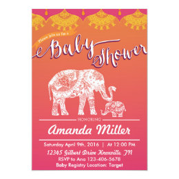 Indian baby shower invitations announcements zazzle moroccan baby shower indian inspiration india card filmwisefo Images
