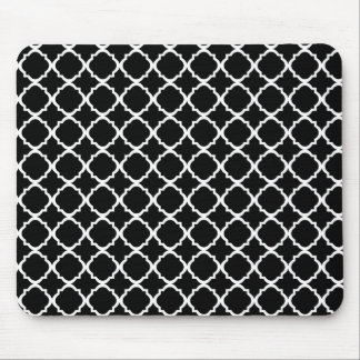 Moroccan Black pattern Mouse Pad