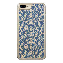 Moroccan Blue and White Casbah Damask Carved iPhone 7 Plus Case