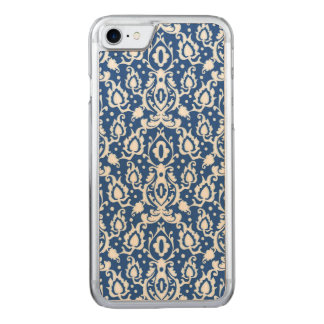 Moroccan Blue and White Casbah Damask Carved iPhone 8/7 Case