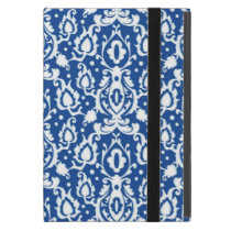 Moroccan Blue and White Casbah Damask iPad Mini Case