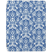 Moroccan Blue and White Casbah Damask iPad Smart Cover