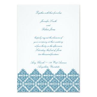 """Moroccan Blue Invitation 5"""" X 7"""" Invitation Card"""
