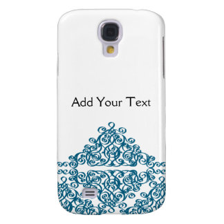 Moroccan Blue Triangle Tile Galaxy S4 Case
