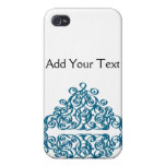 Moroccan Blue Triangle Tile iPhone 4/4S Covers