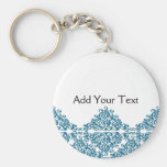 Moroccan Blue Triangle Tile Key Chain