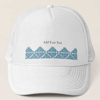 Moroccan Blue Triangle Tile Trucker Hat
