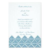 Moroccan Blue Wedding Invitation