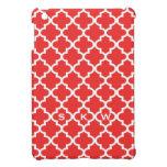 Moroccan brick red tile design 3 monogram iPad mini covers