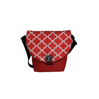 Moroccan brick red tile pattern trendy courier bag