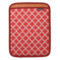 Moroccan brick red tile pattern trendy sleeve for iPads