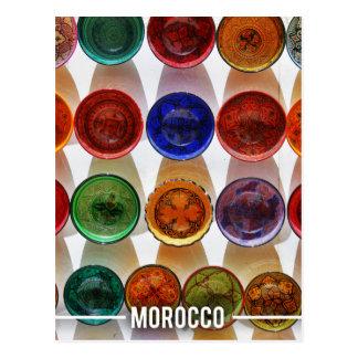 Moroccan Ceramic Plates Postcard