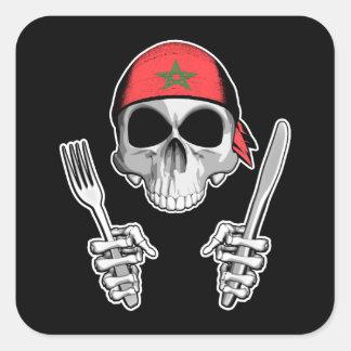 Moroccan Chef 4 Square Sticker