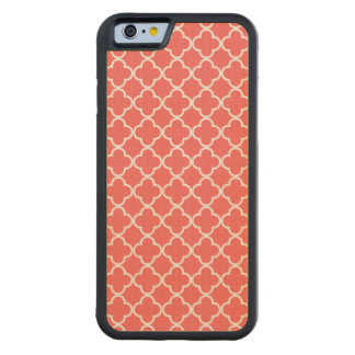 Moroccan Coral White Quatrefoil Pattern Carved® Maple iPhone 6 Bumper