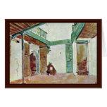 Moroccan Courtyard Greeting Card
