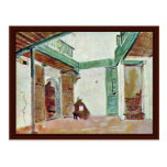Moroccan Courtyard Postcard