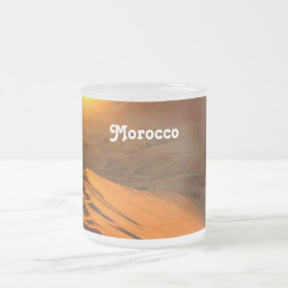 Moroccan Desert Frosted Glass Coffee Mug