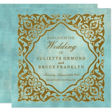 Beach Themed Moroccan Design - Invitation Card