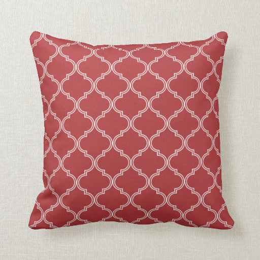 Red Design Throw Pillows : Moroccan Design Red Throw Pillow Zazzle