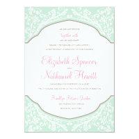 Moroccan Dream Wedding Invitation Mint/Pink (<em>$2.69</em>)