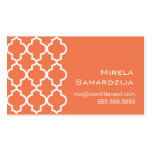 Moroccan Dreams Coral Rose Business Card