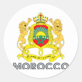 Moroccan Emblem Classic Round Sticker