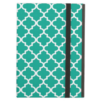 Moroccan emerald green tile design pattern chic iPad air case