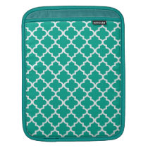 Moroccan emerald green tile pattern trendy sleeve for iPads