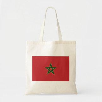 Moroccan flag budget tote bag